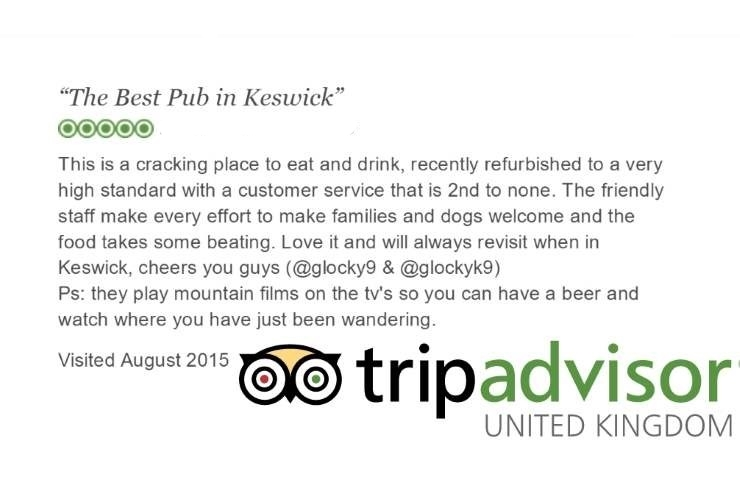 The Wainwright keswick: Trip Advisor Review 1
