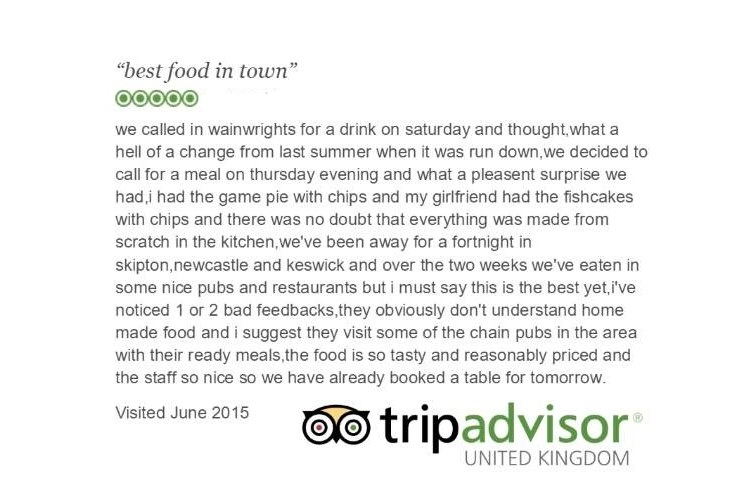The Wainwright keswick: Trip Advisor Review 5